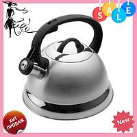Чайник Edenberg EB-1611 со свистком из нержавеющей стали 2,5 л индукция | Свистящий металлический чайник, фото 1