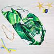 КУПАЛЬНИК слитный Банановые Листья Тропический Принт Цельный с разрезами Молодёжный Пландж Тренд 2020 размер M, фото 2