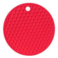 Подставка под горячее Benson BN-990 силиконовая красная   подставки под горячее Бенсон   подложка для горячего, фото 1