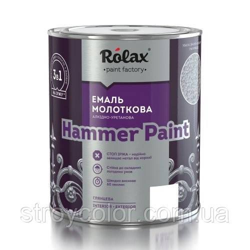 Эмаль молотковая Голубая 307 3в1 HAMMER PAINT 2л. Rolax. (Ролакс краска)