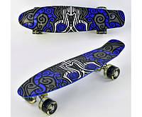 Детский скейт Best Board F6510 со светящимися колесами.