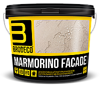 Фасадная штукатурка Marmorino Facade (под Бетон, Травертин, Марморин) TM Brodeco 1кг