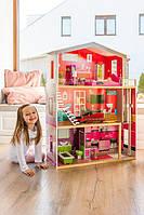 Большой кукольный домик дом для куклы с лифтом Malibu EcoToys