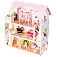 Кукольный домик большой игровой дом для кукол Fairy EcoToys