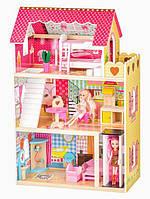 Большой кукольный домик с лифтом дом для кукол EcoToys Roseberry