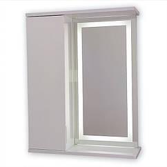 Зеркальный шкаф с LED подсветкой ШК603 (600х700х150) дверь слева