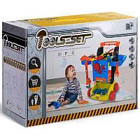 Детский игровой стол с инструментами на колесах 998-4, дрель, молоток, отвертка, пила, на батарейках