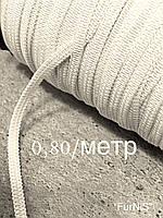 Резинка для масок плоская белая 4мм/100метров (белая) (Украина)