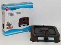 Газовая плита DOMOTEC MS-6601 коричневая 1кф | газплита таганок настольная, фото 1