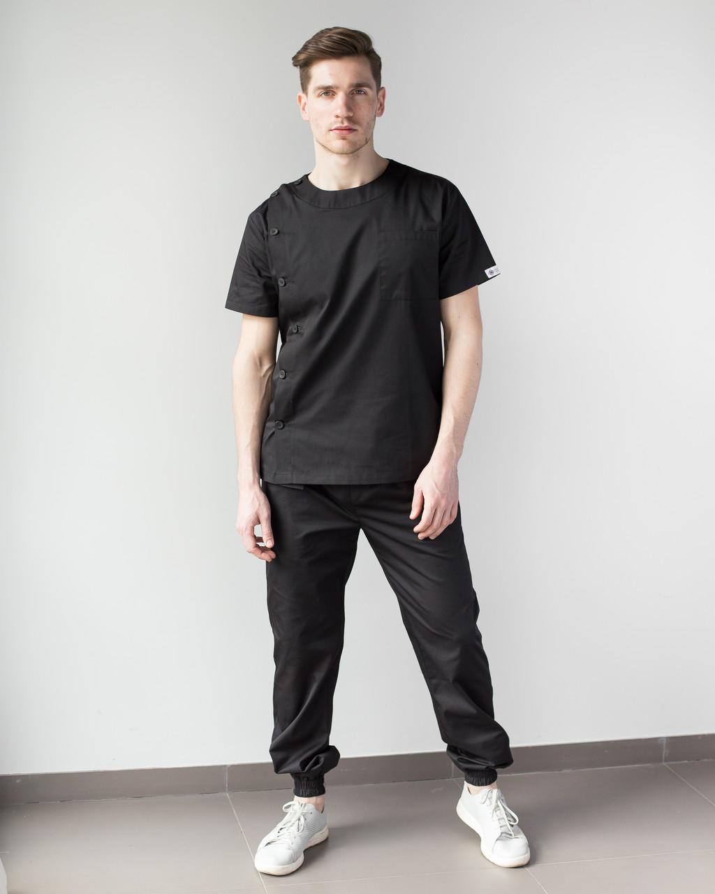 Медичний чоловічий костюм Техас чорний