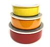 Набор судочков Benson BN-651 эмалированных (5 шт) | судок для еды Бенсон | пищевые контейнеры Бэнсон | судки, фото 4