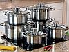 Набор кастрюль Edenberg EB-4036 из 6 предметов из нержавеющей стали
