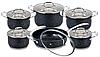 Набор посуды Edenberg EB-4044 кастрюли сковорода и ковш из 6 предметов