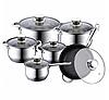 Набор посуды Haus Lux HL-1231 кастрюли сковорода-сотейник и ковш из 6 предметов