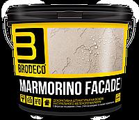 Фасадная штукатурка Marmorino Facade (под Бетон, Травертин, Марморин) TM Brodeco 15кг