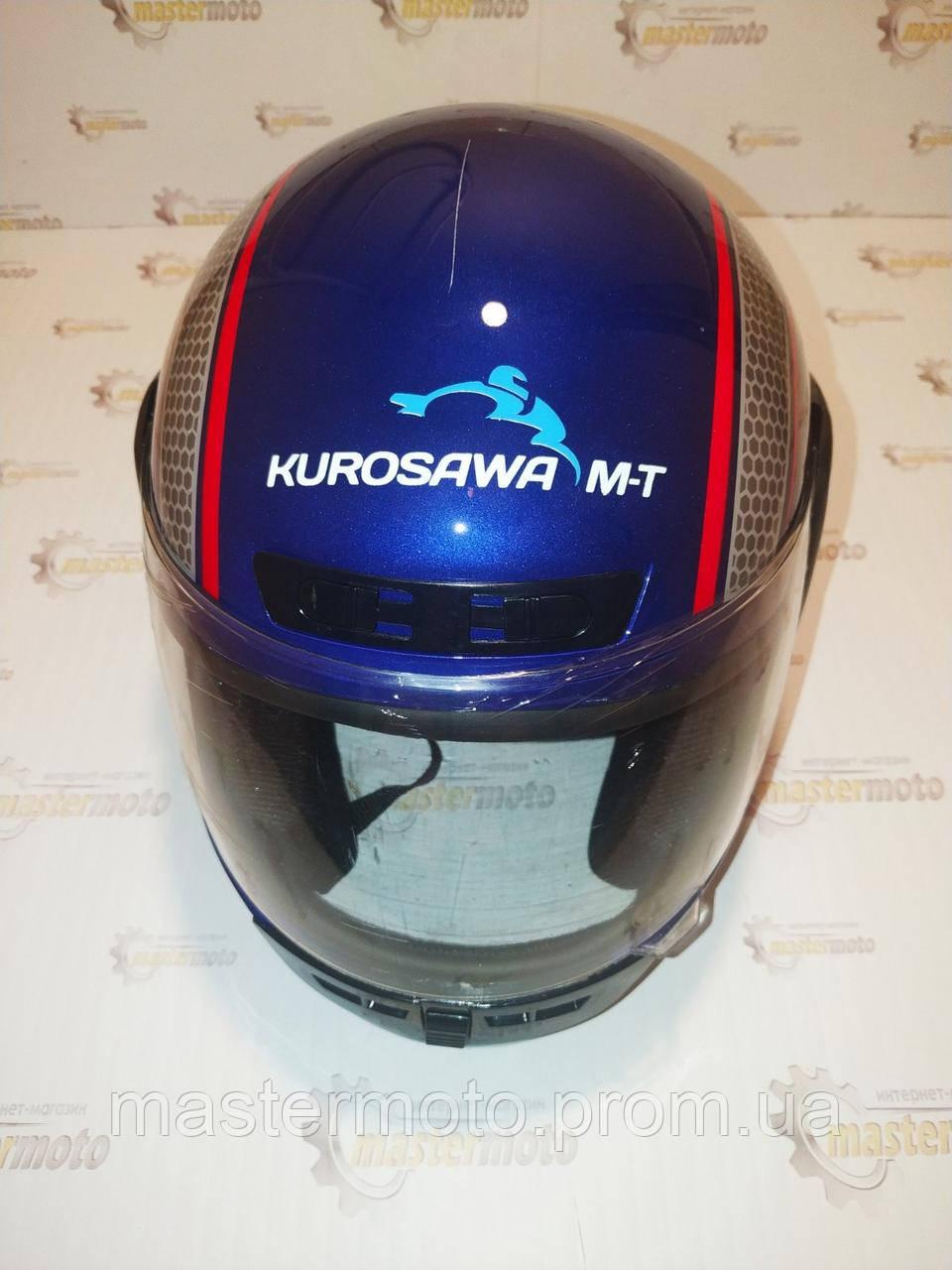 Шлем мотоциклетный интеграл закрытый синий L(59-60) HF-101/501