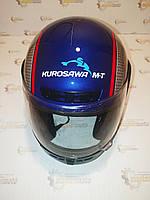 Шлем мотоциклетный интеграл закрытый синий L(59-60) HF-101/501, фото 1