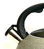 Чайник со свистком Benson BN-714 (3 л) из нержавеющей стали, нейлоновая ручка, дно 7 слоев | чайник Бенсон