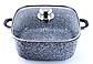 Набор посуды Benson BN-326 (6 предметов) гранитное покрытие   кастрюля с крышкой   кастрюли   сковорода Бенсон, фото 2