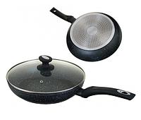 Сковорода Edenberg EB-4107 з двостороннім мармуровим покриттям 20 см, фото 1
