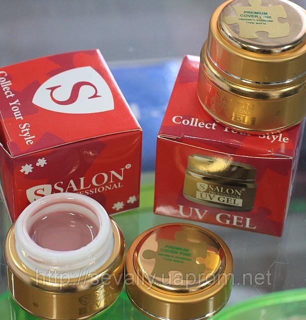 Salon Professional камуфлирующий бежево-розовый гель ,30 мл