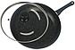 Сковорода с антипригарным мраморным покрытием с крышкой Benson BN-342 (28 см) | сковородка Бенсон, фото 2