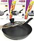 Сковорода с антипригарным мраморным покрытием с крышкой Benson BN-342 (28 см) | сковородка Бенсон, фото 3