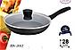 Сковорода з антипригарним мармуровим покриттям з кришкою Benson BN-342 (28 см) | сковорідка Бенсон, фото 5