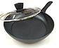 Сковорода с антипригарным мраморным покрытием с крышкой Benson BN-342 (28 см) | сковородка Бенсон, фото 6
