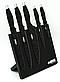 Набір ножів Benson BN-409 з нержавіючої сталі на магнітній підставці (5 пр)   кухонний ніж   ножі Бенсон, фото 4