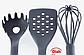 Кухонний набір з 7 предметів Benson BN-460 | лопатка | ложка для спагеті | ополоник | шумівка, фото 4