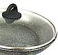 Сковорода Benson BN-491 с антипригарным мраморным покрытием с крышкой (24 см) | сковородка Бенсон, фото 2