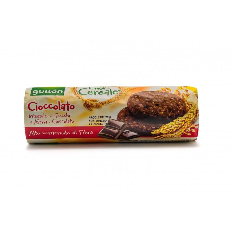 Печиво GULLON tube Cuor di Cereale, шоколадне, 280г