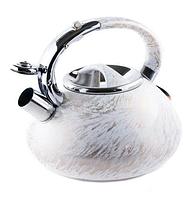 Чайник Edenberg EB-1900 со свистком 3 л | Свистящий металлический чайник, фото 1