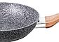 Сковорода Benson BN-541 (22 см) с крышкой, антипригарное гранитное покрытие | сковородка Бенсон, Бэнсон, фото 2