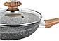 Сковорода Benson BN-541 (22 см) с крышкой, антипригарное гранитное покрытие | сковородка Бенсон, Бэнсон, фото 5
