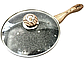 Сковорода Benson BN-541 (22 см) с крышкой, антипригарное гранитное покрытие | сковородка Бенсон, Бэнсон, фото 8