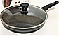 Сковорода Benson BN-558 (26 см) с антипригарным мраморным покрытием с крышкой | сковородка Бенсон, Бэнсон, фото 5