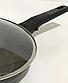 Сковорода Benson BN-559 (28 см) с антипригарным мраморным покрытием с крышкой   сковородка Бенсон, Бэнсон, фото 2