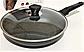 Сковорода Benson BN-559 (28 см) с антипригарным мраморным покрытием с крышкой   сковородка Бенсон, Бэнсон, фото 5