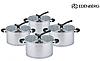 Набор кастрюль Edenberg EB-3713 из 4 предметов из нержавеющей стали, фото 3