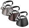 Чайник Edenberg EB-1991 со свистком из нержавеющей стали 3 л | Свистящий металлический чайник