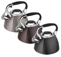 Чайник Edenberg EB-1991 со свистком из нержавеющей стали 3 л | Свистящий металлический чайник, фото 1