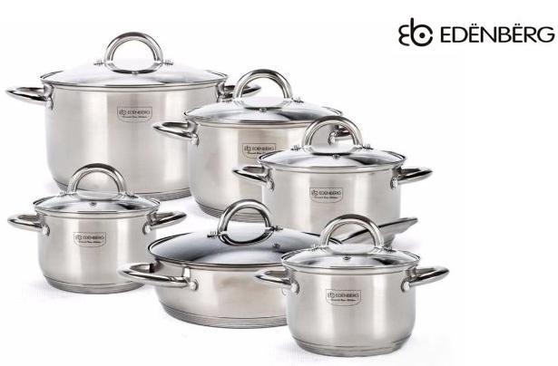 Набор посуды Edenberg EB-4001 кастрюли и сковорода из 6 предметов