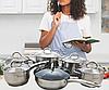 Набор посуды Edenberg EB-4001 кастрюли и сковорода из 6 предметов, фото 5