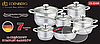Набор посуды Edenberg EB-4040M кастрюли сковорода и ковш из 6 предметов, фото 2