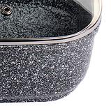 Ківш з кришкою мармурове покриття Benson BN-302 (1.5 л)   сотейник Бенсон   кухлик Бэнсон   набір посуду, фото 5