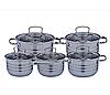 Набор посуды Edenberg EB-4074 из 5 предметов кастрюли и ковш из нержавеющей стали, фото 2