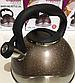 Чайник со свистком Benson BN-716 (2.8 л) из нержавеющей стали, нейлоновая ручка, дно 7 слоев   чайник Бенсон, фото 5