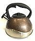 Чайник со свистком Benson BN-716 (2.8 л) из нержавеющей стали, нейлоновая ручка, дно 7 слоев   чайник Бенсон, фото 7